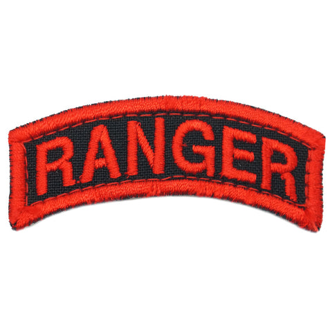 US RANGER TAB - BLACK RED