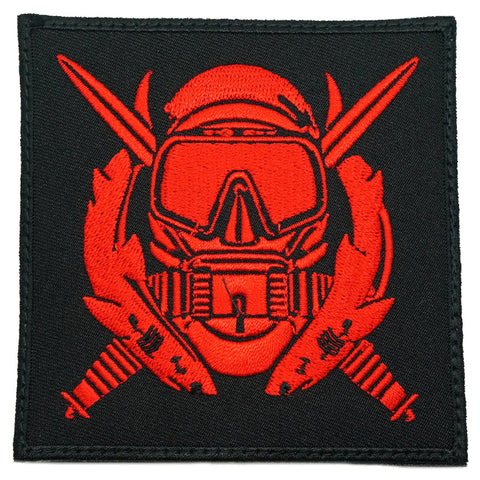 US SPECIAL OPERATION COMBAT DIVER PATCH - BLACK RED