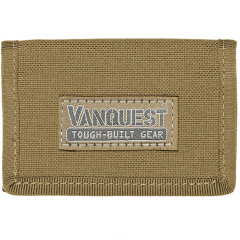 VANQUEST VAULT 2.0 RFID-BLOCKING WALLET - COYOTE TAN