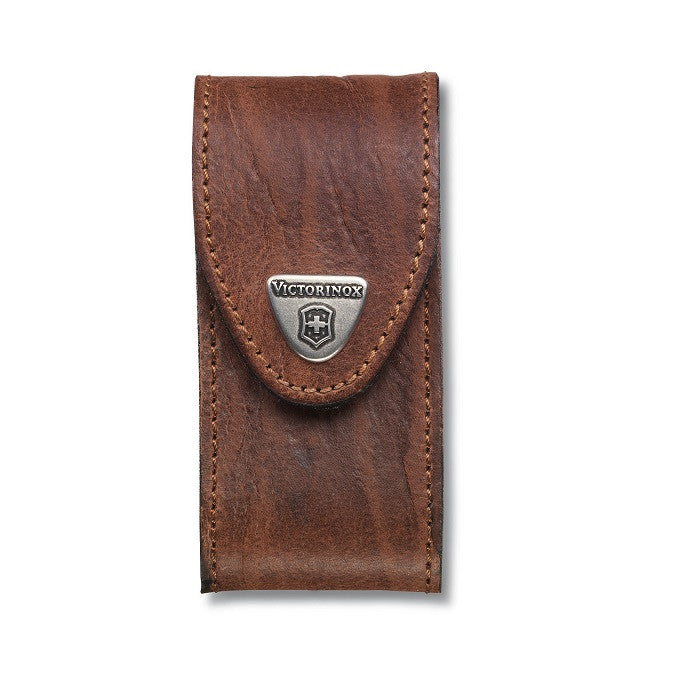 VICTORINOX LEATHER POUCH (FOR SWISS CHAMP) - BROWN