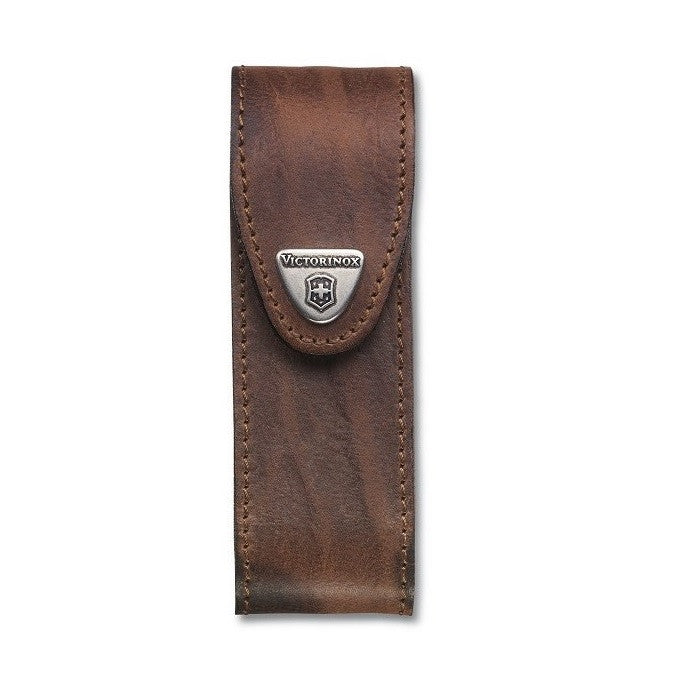VICTORINOX LEATHER POUCH (FOR LOCK BLADE KNIVES) - BROWN