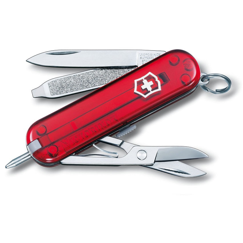 VICTORINOX SIGNATURE - RED TRANSLUCENT