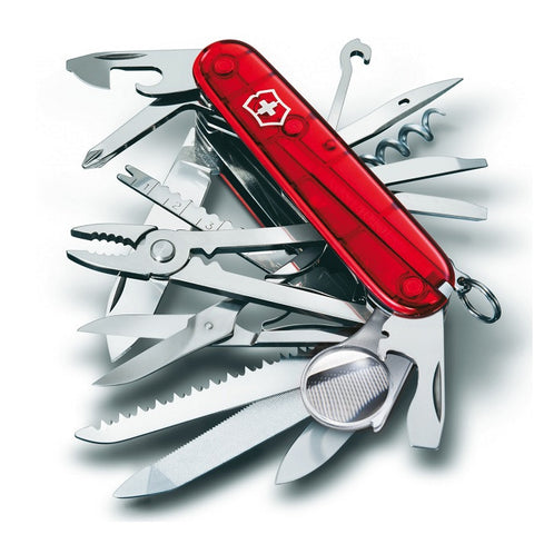 VICTORINOX SWISS CHAMP - RED TRANSLUCENT - Hock Gift Shop | Army Online Store in Singapore