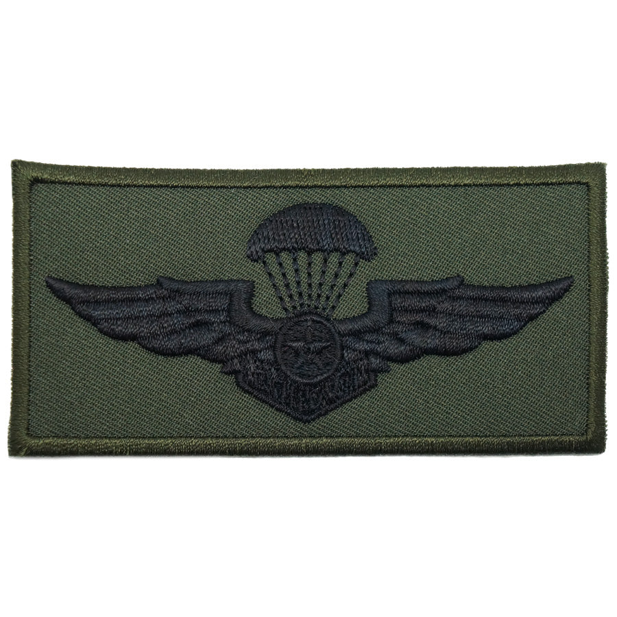 VIETNAM PARACHUTIST WING - LARGE, SUBDUED (OD GREEN)