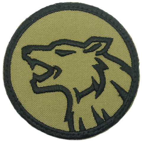 WOLF HEAD PATCH - OLIVE GREEN