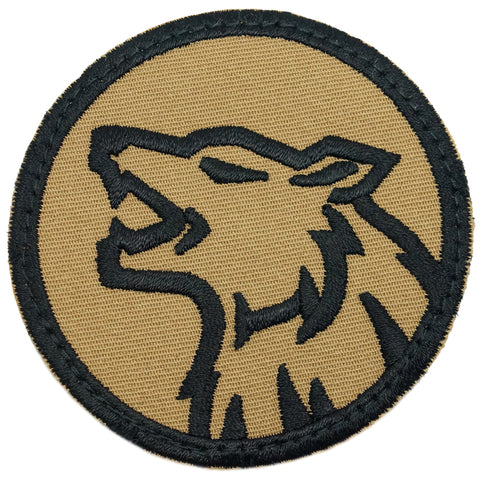 WOLF HEAD PATCH - COYOTE