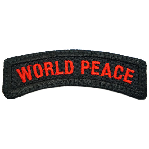 WORLD PEACE TAB - BLACK RED