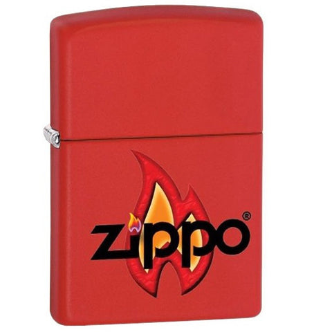 ZIPPO FLAME MATTE RED