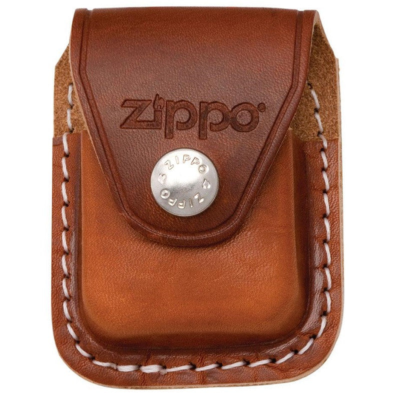 ZIPPO LEATHER LIGHTER CASE - CLIP - BROWN