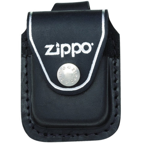 ZIPPO LEATHER LIGHTER CASE - LOOP - BLACK