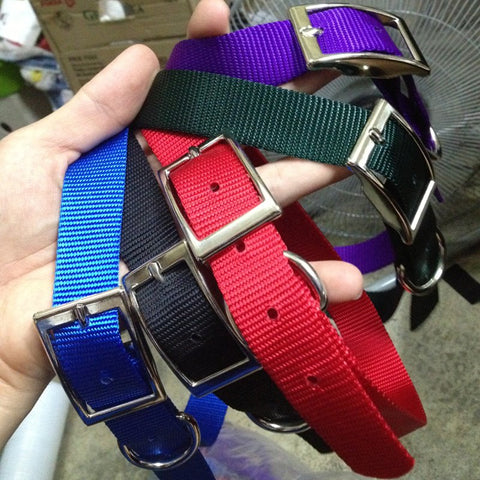 "ADJUSTABLE NYLON METAL BUCKLE COLLARS (17"" TO 21"") - Hock Gift Shop 