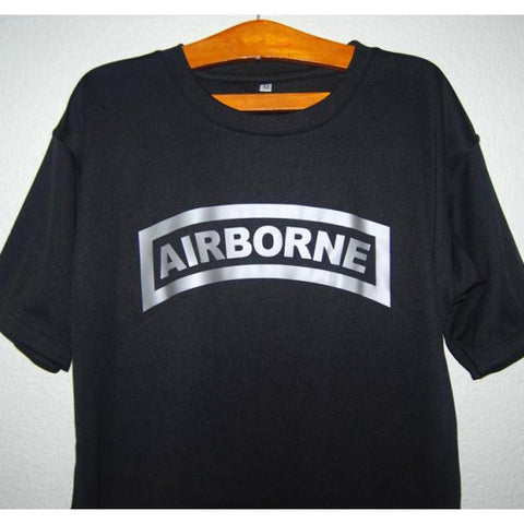 HGS T-SHIRT - AIRBORNE TAB (SILVER PRINT) - Hock Gift Shop | Army Online Store in Singapore