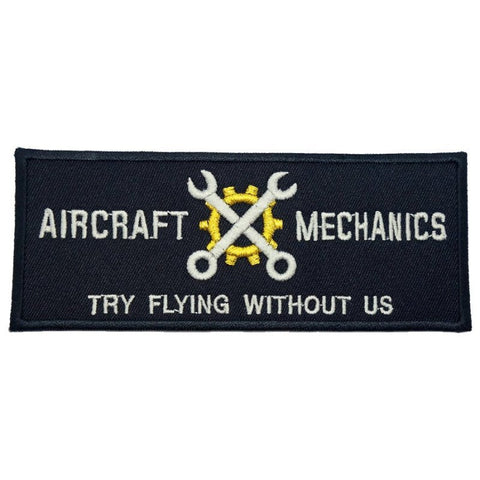 AIRCRAFT MECHANICS PATCH - BLACK - Hock Gift Shop | Army Online Store in Singapore
