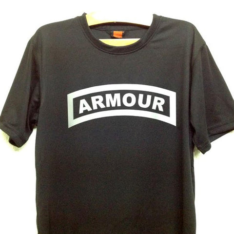 HGS T-SHIRT - ARMOUR TAB (SILVER PRINT) - Hock Gift Shop | Army Online Store in Singapore