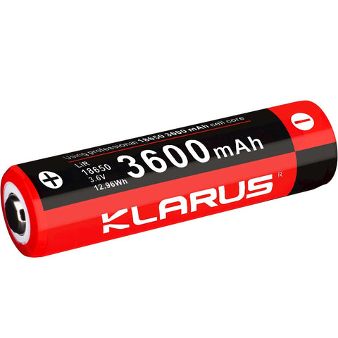 KLARUS 18GT-36 18650 3600mAh RECHARGEABLE LITHIUM BATTERY FOR XT11GT, XT12GT & OTHER