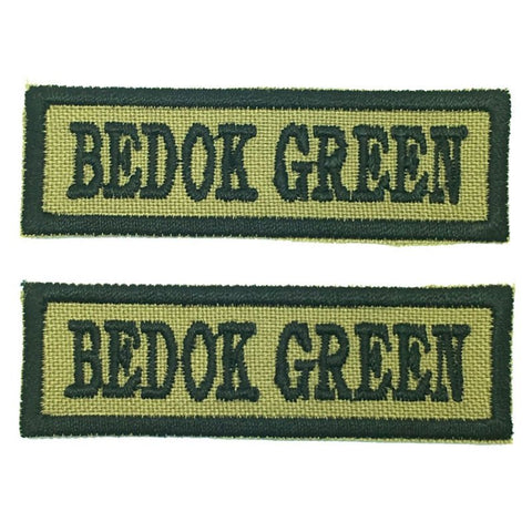 BEDOK GREEN NCC SCHOOL TAG - 1 PAIR - Hock Gift Shop | Army Online Store in Singapore
