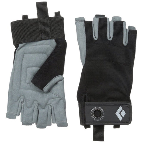 BLACK DIAMOND CRAG HALF FINGER GLOVES - BLACK
