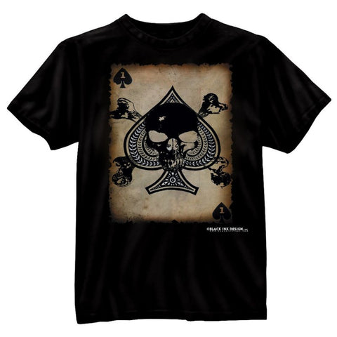 "ROTHCO BLACK INK ""DEATH CARD"" T-SHIRT - Hock Gift Shop 