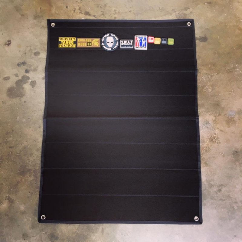 LOOP SIDE VELCRO PATCH PANEL - 60CM X 78CM (BLACK) - Hock Gift Shop | Army Online Store in Singapore