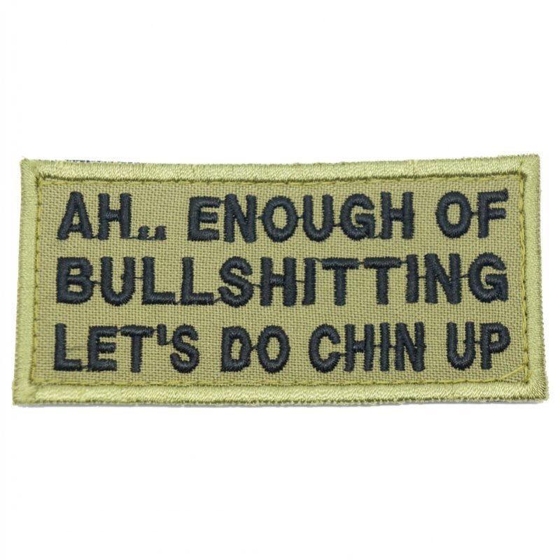BULLSHITTING PATCH - OLIVE GREEN - Hock Gift Shop | Army Online Store in Singapore