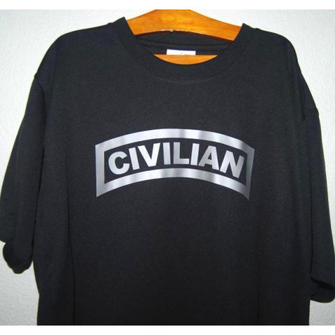 HGS T-SHIRT - CIVILIAN TAB (SILVER PRINT) - Hock Gift Shop | Army Online Store in Singapore