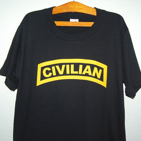 HGS T-SHIRT - CIVILIAN TAB (YELLOW PRINT) - Hock Gift Shop | Army Online Store in Singapore