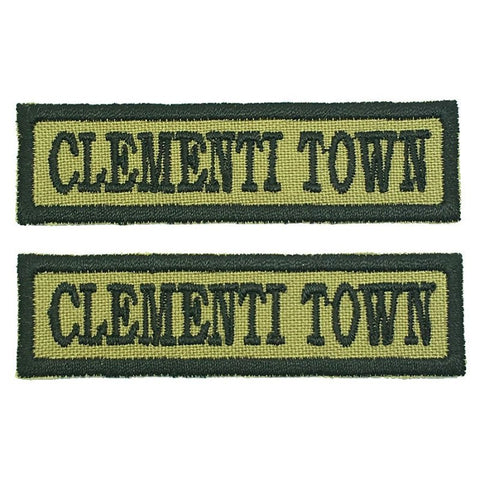CLEMENTI TOWN NCC SCHOOL TAG - 1 PAIR - Hock Gift Shop | Army Online Store in Singapore