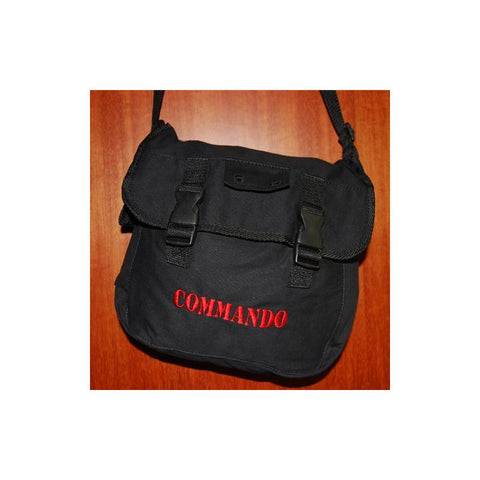 D&G SOLDIERTALK COMMANDO SLING BAG (TEXT) - BLACK