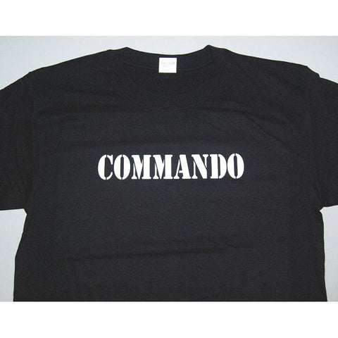 HGS T-SHIRT - COMMANDO (WHITE PRINT) - Hock Gift Shop | Army Online Store in Singapore