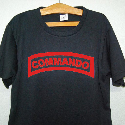 HGS T-SHIRT - COMMANDO TAB (RED PRINT) - Hock Gift Shop | Army Online Store in Singapore