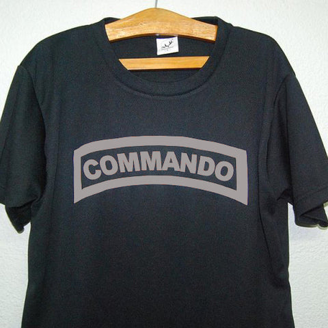 HGS T-SHIRT - COMMANDO TAB (SILVER PRINT) - Hock Gift Shop | Army Online Store in Singapore