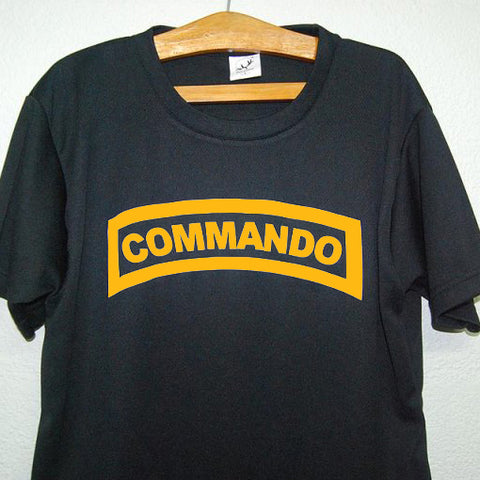 HGS T-SHIRT - COMMANDO TAB (YELLOW PRINT) - Hock Gift Shop | Army Online Store in Singapore