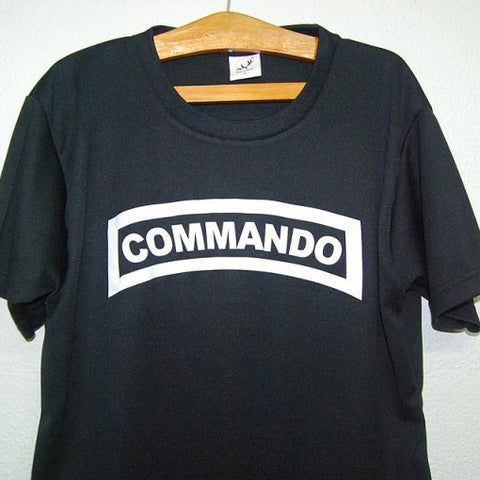 HGS T-SHIRT - COMMANDO TAB (WHITE PRINT) - Hock Gift Shop | Army Online Store in Singapore