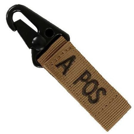 CONDOR BLOOD TYPE KEY CHAIN - COYOTE BROWN