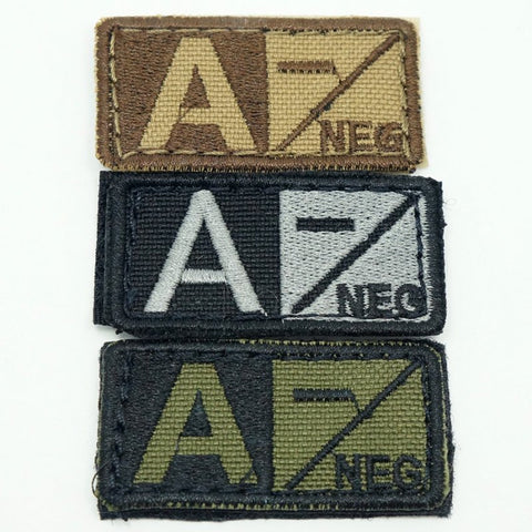 CONDOR BLOOD TYPE VELCRO PATCH - A NEG