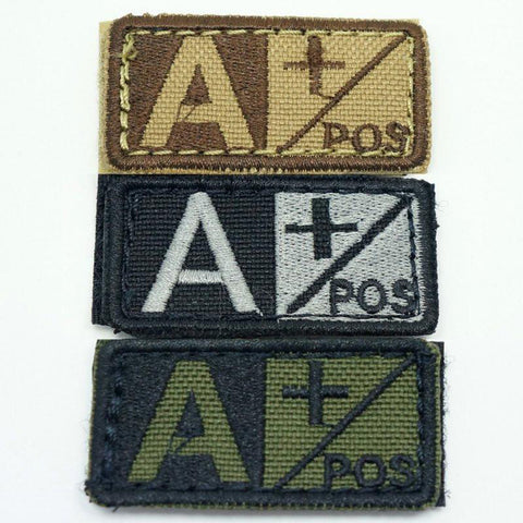 CONDOR BLOOD TYPE VELCRO PATCH - A POS