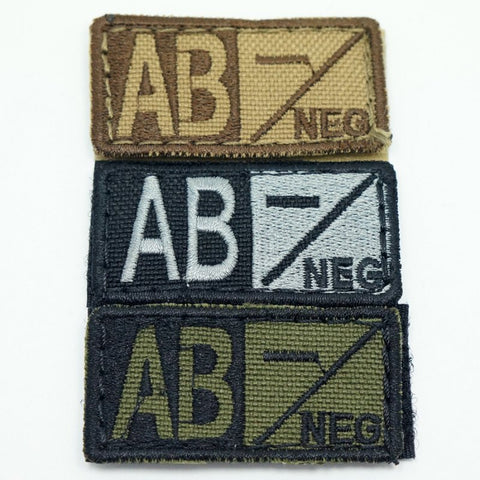 CONDOR BLOOD TYPE VELCRO PATCH - AB NEG
