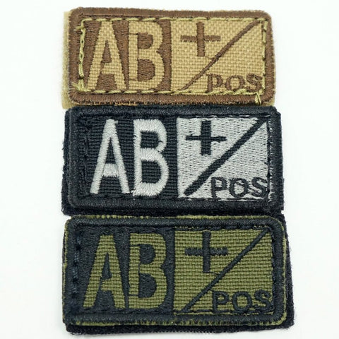 CONDOR BLOOD TYPE VELCRO PATCH - AB POS