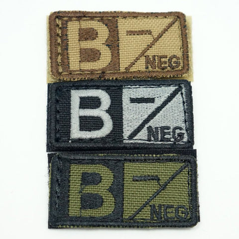 CONDOR BLOOD TYPE VELCRO PATCH - B NEG