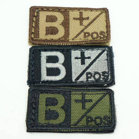 CONDOR BLOOD TYPE VELCRO PATCH - B POS