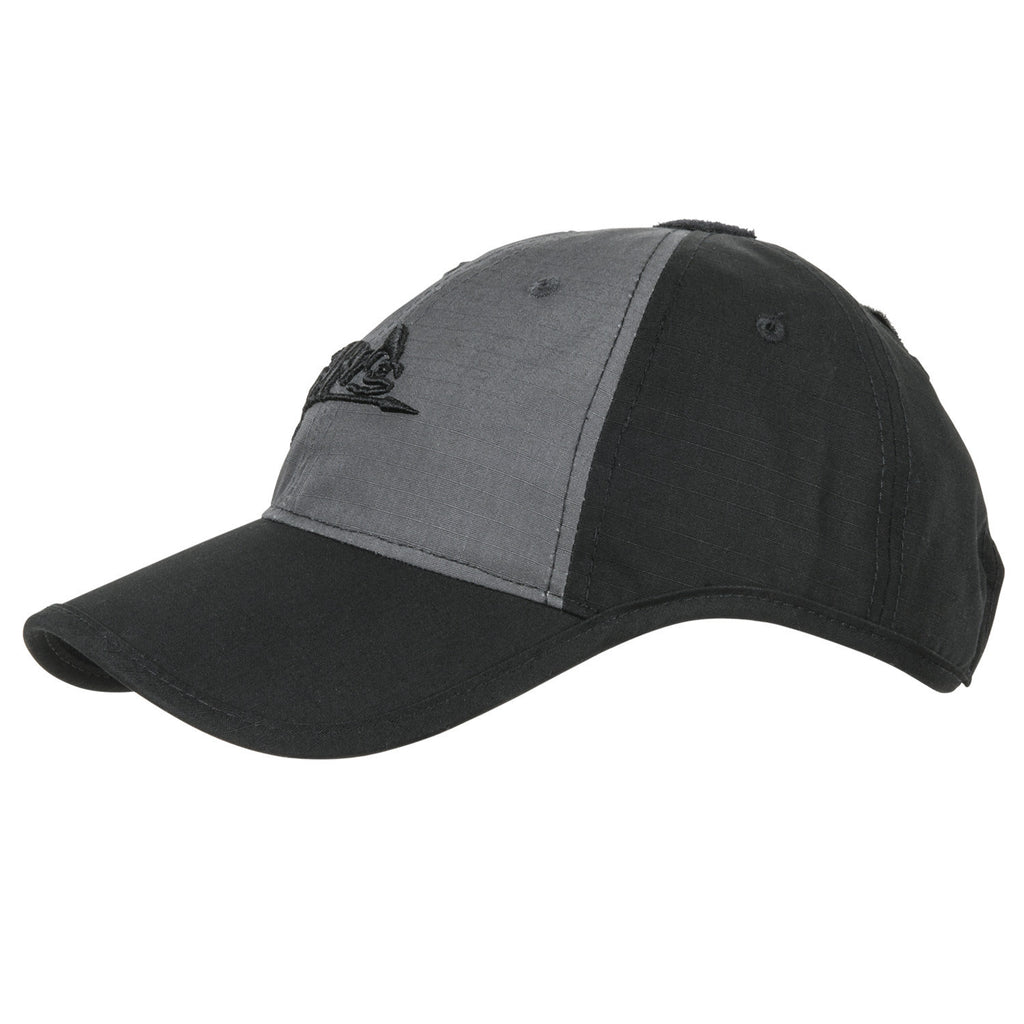 HELIKON-TEX LOGO CAP - BLACK / SHADOW GREY B