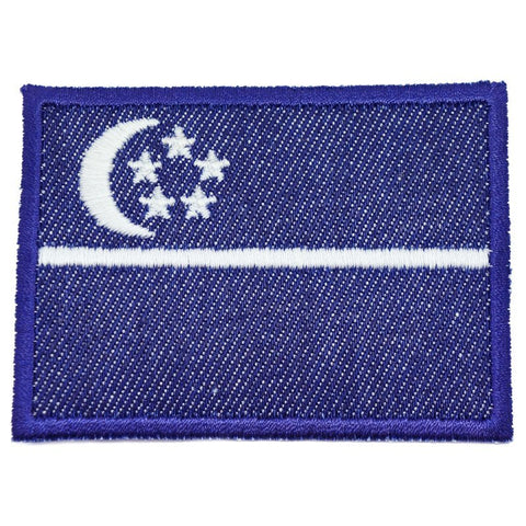 SINGAPORE FLAG - DENIM, GLOW (LARGE) - Hock Gift Shop | Army Online Store in Singapore