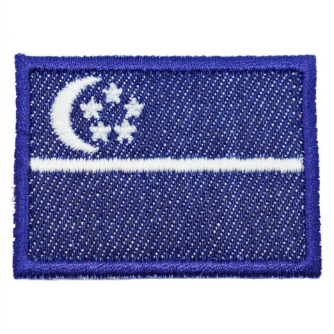 SINGAPORE FLAG - DENIM, GLOW (MEDIUM) - Hock Gift Shop | Army Online Store in Singapore
