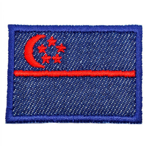 SINGAPORE FLAG - DENIM, RED (MEDIUM) - Hock Gift Shop | Army Online Store in Singapore