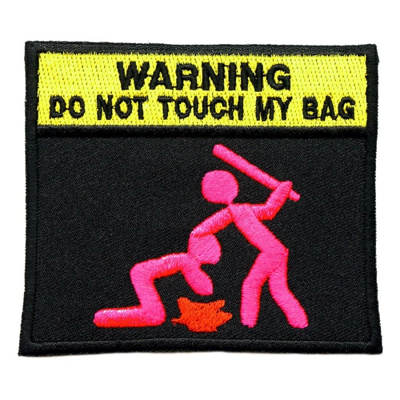 DO NOT TOUCH MY BAG PATCH - ZOMBIE PINK