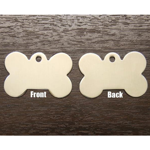 DOG BONE METAL TAG (LARGE)
