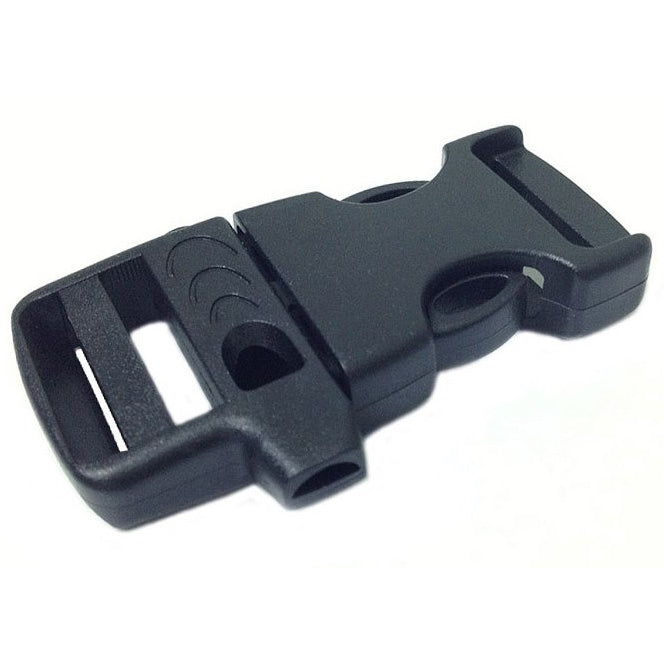 EMERGENCY SURVIVAL WHISTLE BUCKLE - BLACK