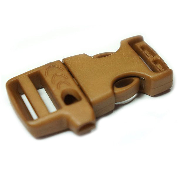 EMERGENCY SURVIVAL WHISTLE BUCKLE - BROWN
