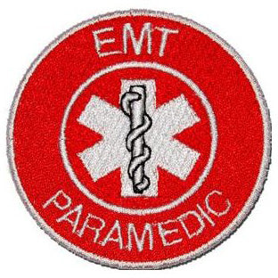 EMT PARAMEDIC PATCH - RED