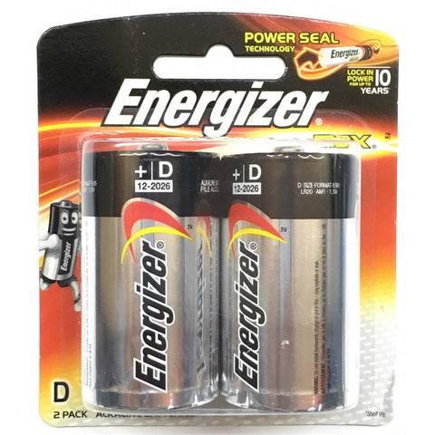 ENERGIZER BATTERIES MAX - D (2 PIECE PACK)